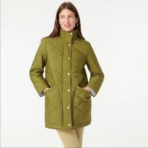 NWT j.crew cocoon puffer quilted coat jacket small